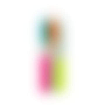 Dip Dye Neon Rainbow Kisses Candles