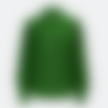 Almond Puff Sleeve Shirt Green