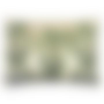 Rechteckiges Kissen mit grünen Palmen