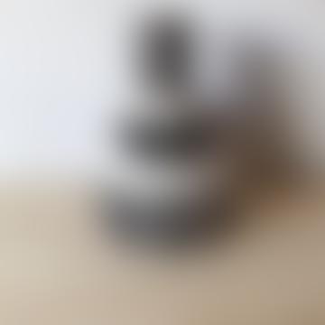 Black Terracotta Stepped Vase
