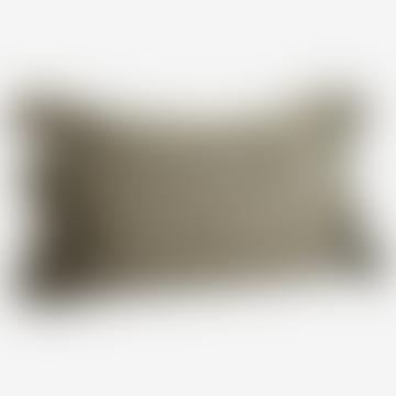 Olive Tassel Cushion Cover