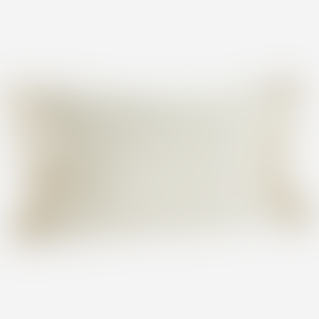 Ivory Textured Tassel Cushion 40 X 60