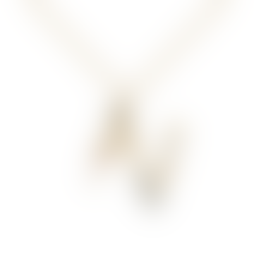 Sparkling Initial Necklace Letter N