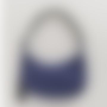 Medium Crescent Bag Shoulder Bag Made of Nylon Ink