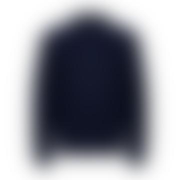 Bomber Style Knitted Cardigan Navy Blazer