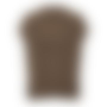 Brown Melange Knitted Vest