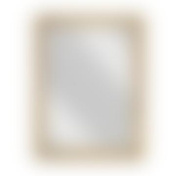 Yadur Rectangular Mirror Antique Brass Large
