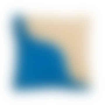 Wavy Sqaure Cushion Blue