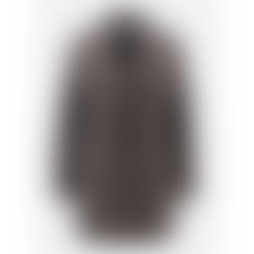 Ebony Grey Pressed Wool Slouchy Peacoat