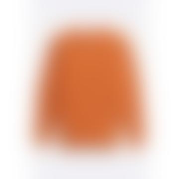 Hamish Ribbed Knit Marmalade Orange
