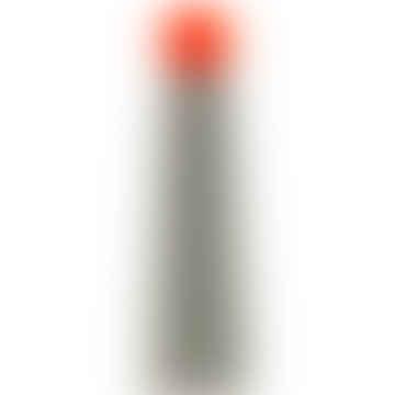 Skittle Bottle Jumbo 250ml - Light Grey and Coral