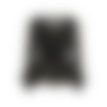 Matinez Blouse In Black Dotty String Leaves