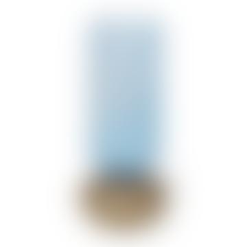 Vase de Dorit Vase Verre Lumière Bleue et Taupe