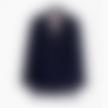 Tiffany Navy Fringes Jacket