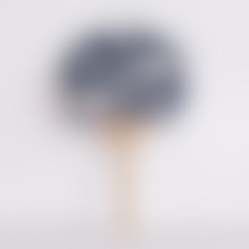 Grey Moon Pattern Dyed Marugame Fan