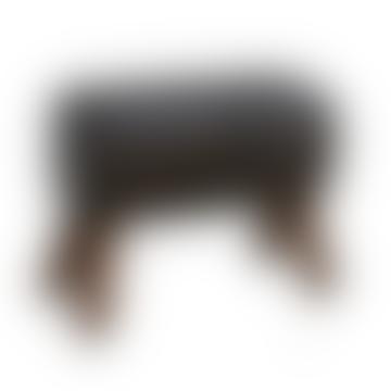 Black Leather Pommel Stool