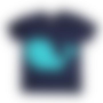 Glow in the Dark Whale T Shirt - Navy