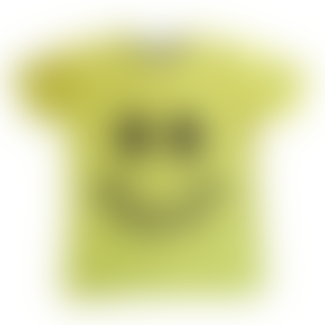 Yellow Happy Smiley Face Printed Kids T Shirt