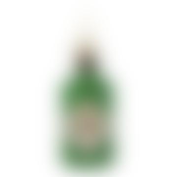 Glass Ornament Green Glitter Gin Bottle