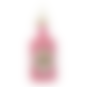 Glass Ornament Pink Glitter Gin Bottle