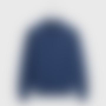 Casual Cotton 1 4 Zip Sweater Marine Melange