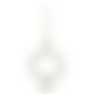 Off White Circle Stoneware Candle Holder