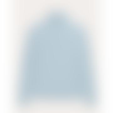 Rolled Collar Sweater - Merino Bio Wool - Porcelain Blue