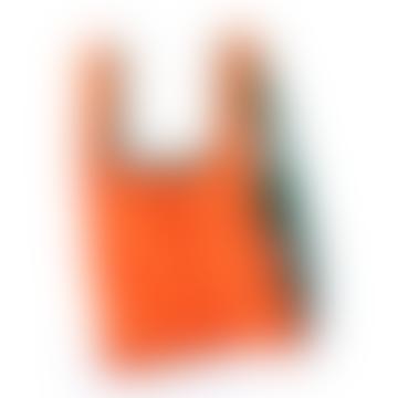 Bicolour Reusable Shopping Bag - Orange and Green