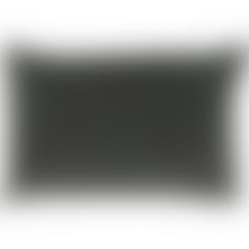 Velvet Cushion 75x50cm Anthracite Grey color