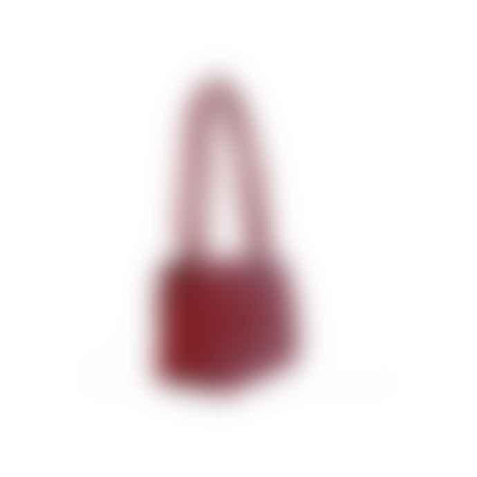 Nat & Nin Cherry Crocodile Hermione Leather Bag