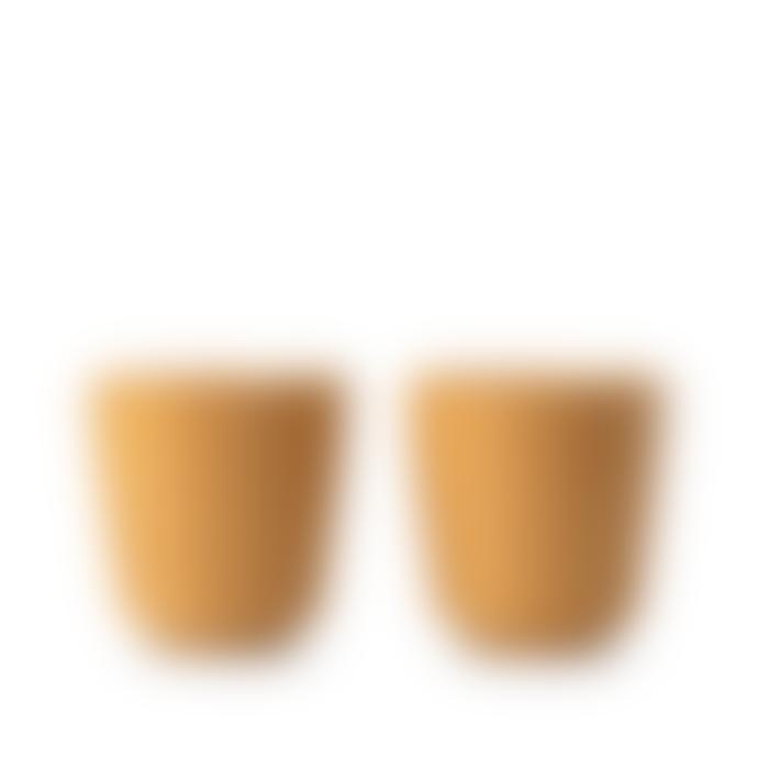 Rosendahl Copenhagen Set of 2 Ochre Grand Cru Take Mugs