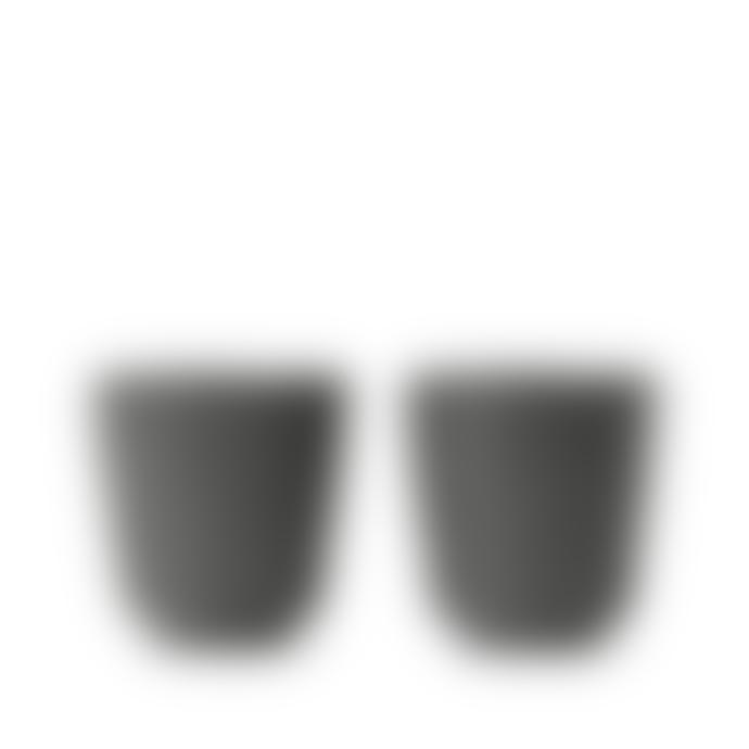 Rosendahl Copenhagen Set of 2 Dark Grey Grand Cru Take Mugs