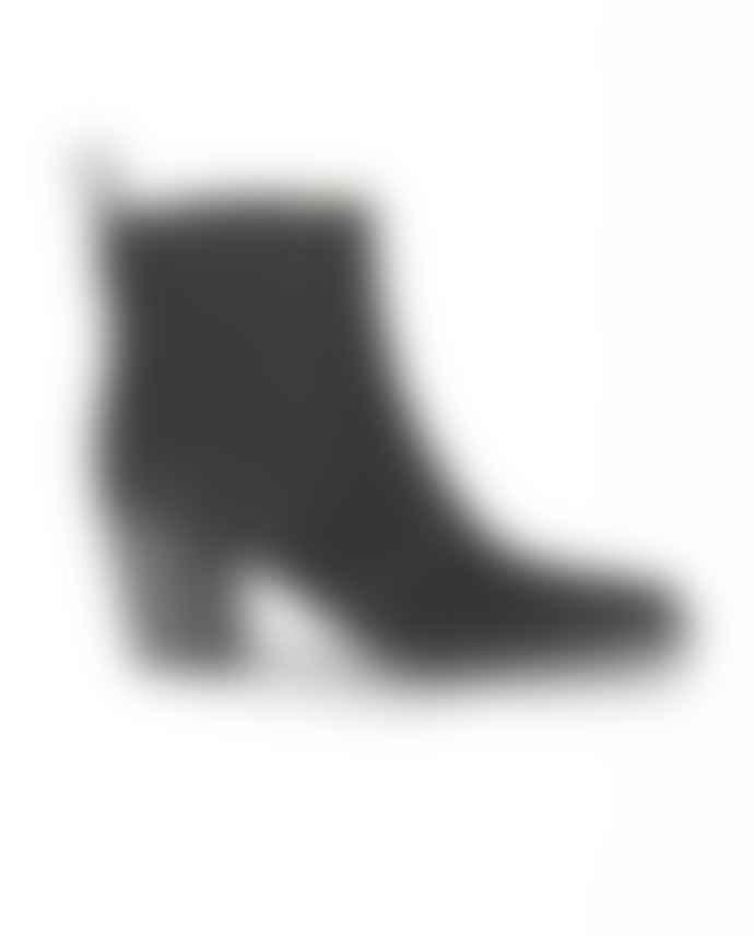Ganni Western Ankle Boots Black
