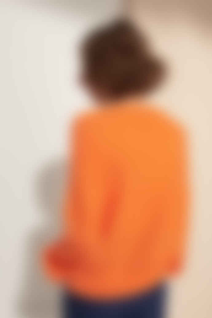 Le Mont Saint Michel Extra Fine Merino Wool Orange Jersey
