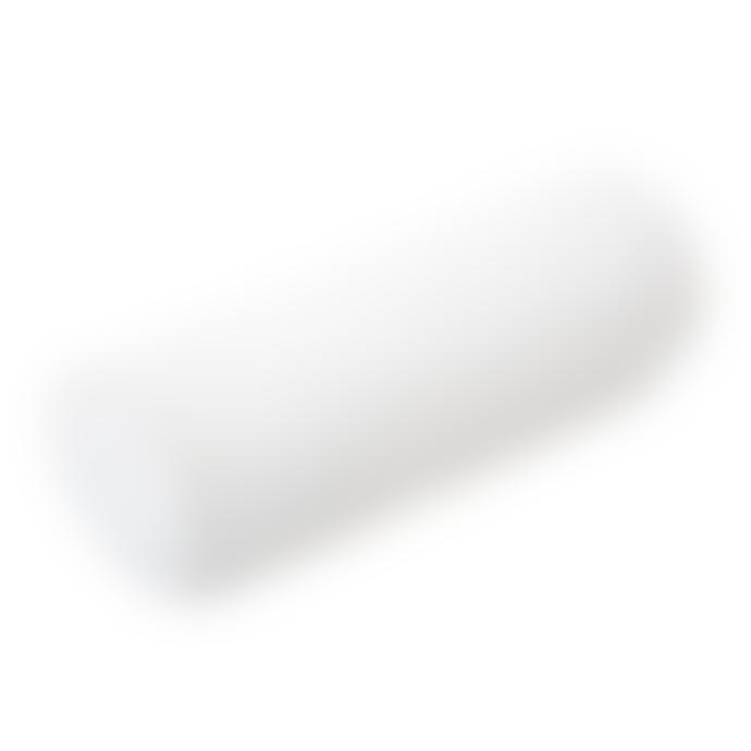 wigiwama Velvet Roll Cushion White