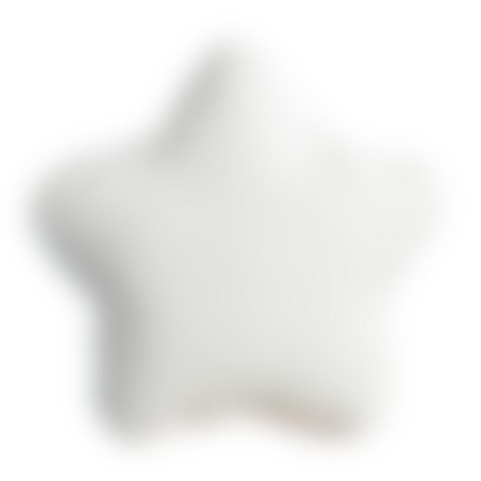 wigiwama White Velvet Star Cushion