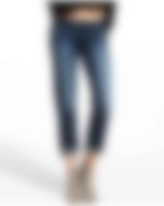DL1961 Mid Blue Riley Straight Boyfriend Jeans Nassau