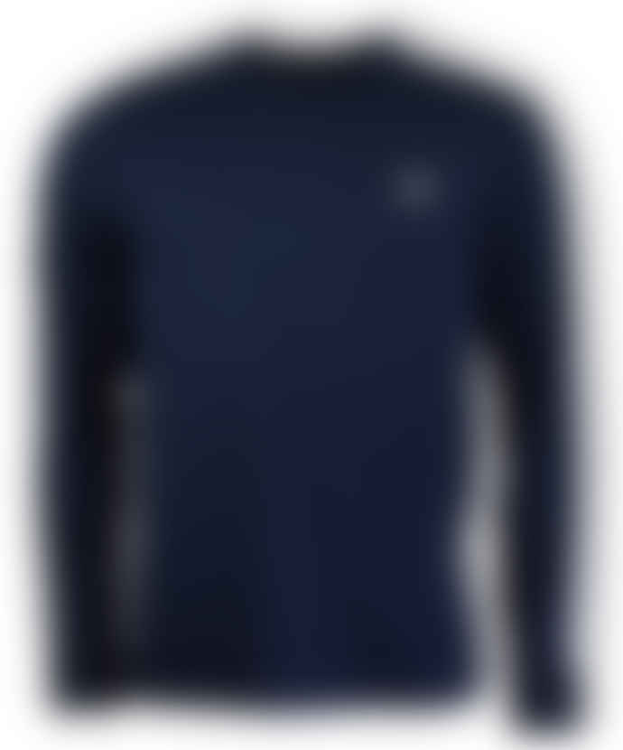 Fred Perry Taped Long-Sleeved Ringer T-Shirt Carbon Blue
