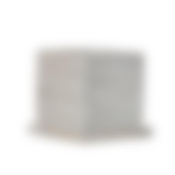 Wikholm Form Siri Square Concrete Plant Pot With Plate