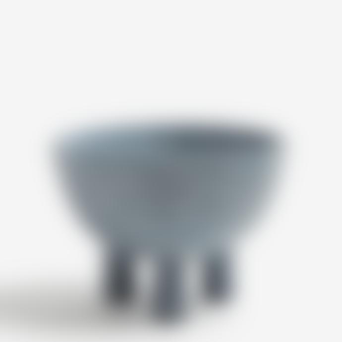 101 Copenhagen  Light Grey Ceramic Duck Bowl Medio