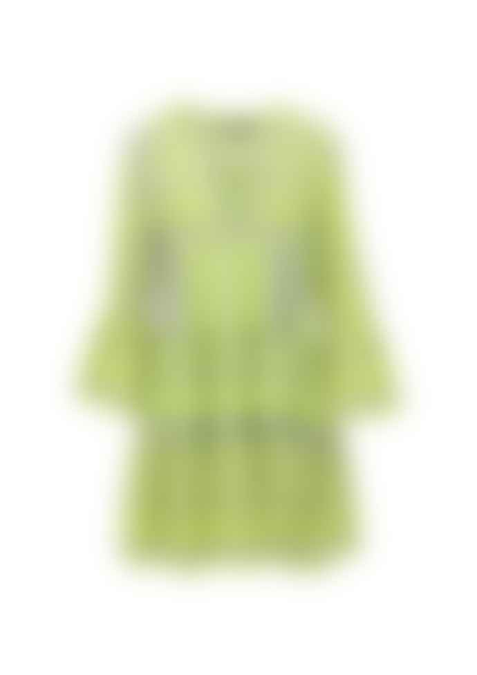 Devotion Twins Ella Dress In Grey And Lime