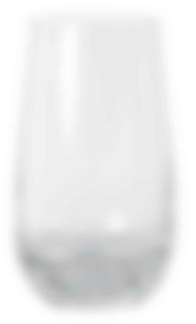 Broste Copenhagen Set of 4 Handblown Clear Bubble Glass Hi Ball Tumblers