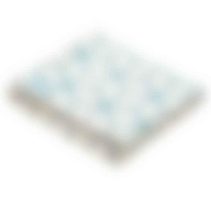 Atlantic Blankets Teal Geometric Recycled Cotton Blanket Kingsize