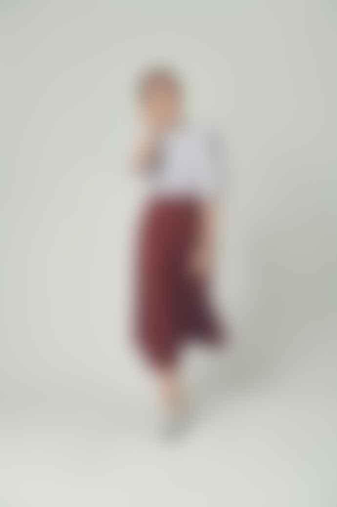 Britt Sisseck Lip Skirt In Ratti Red