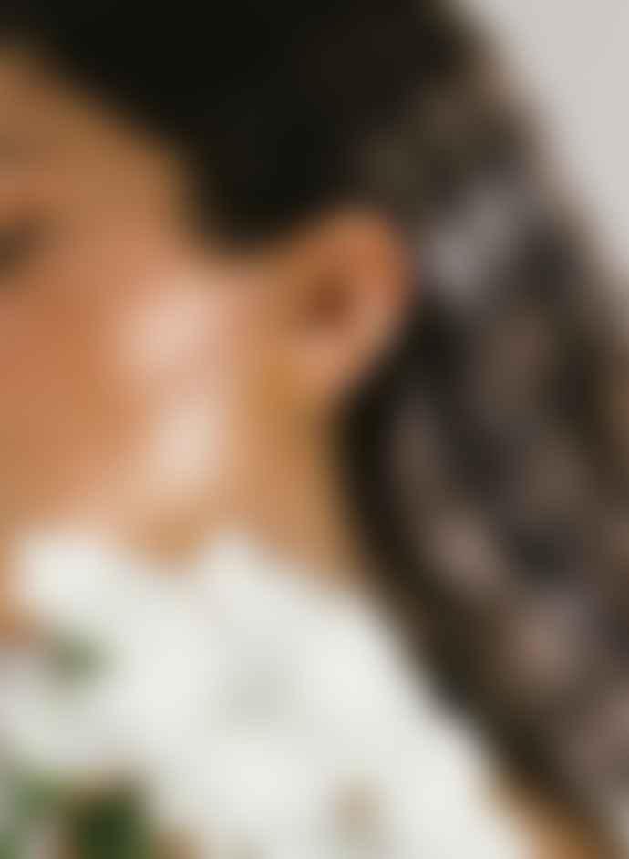 Daisy London Lapis Healing Stone Huggie Earrings