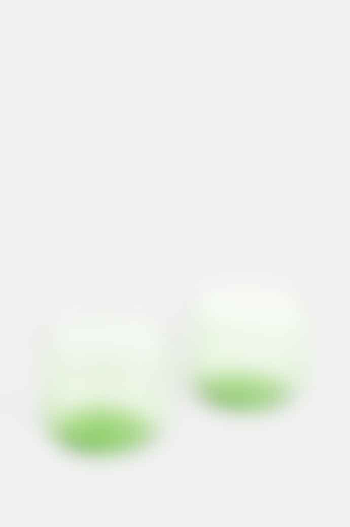 HAY Set Of 2 Tint Glasses In Green
