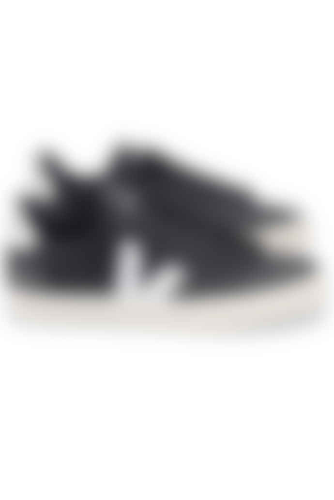 Veja Campo Chrome Free Leather Trainers Shoes - Black White