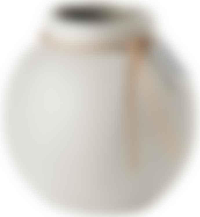 Ernst Stoneware White Vase 10cm