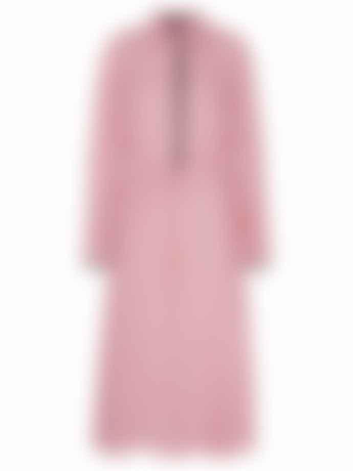 Markus Lupfer Blair Iconic Lip Drawstring Waist Dress