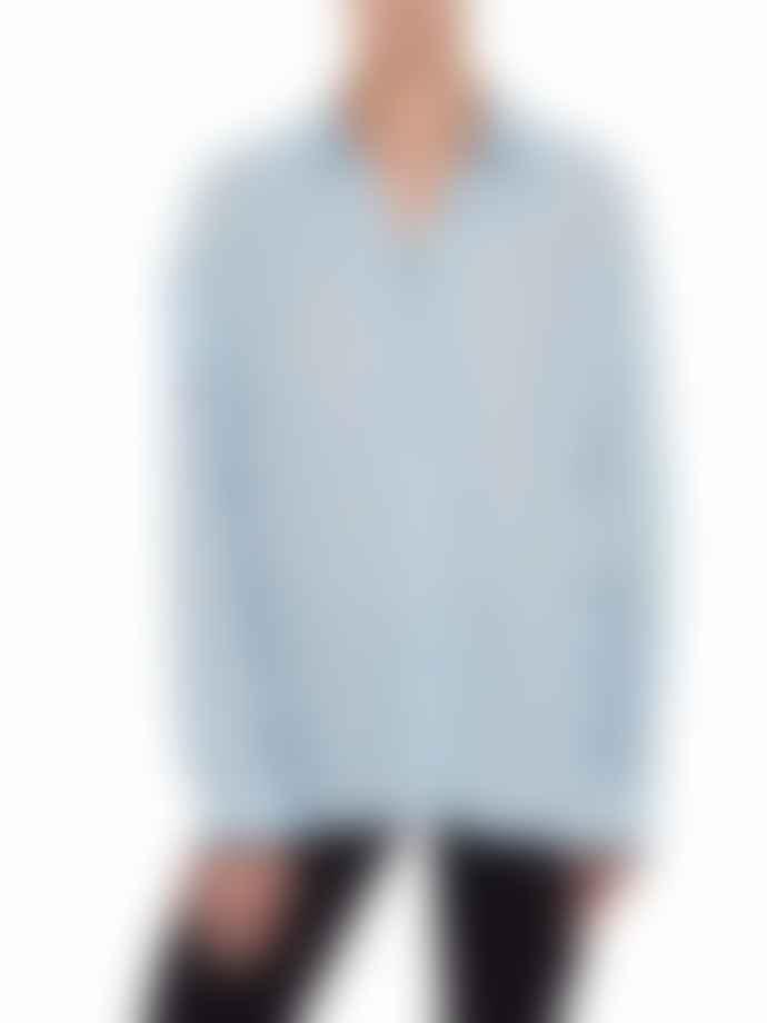 Markus Lupfer Blair Iconic Lip Shirt Blue